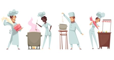 alunos  de gastronomia